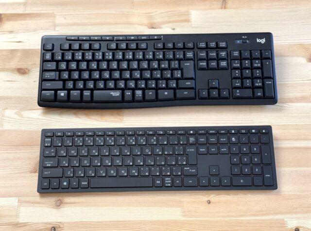 2台のキーボード(比較のため)